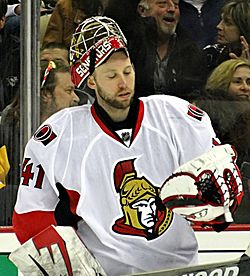 Ottawa Senators goaltender Craig Anderson. Image Courtesy of Wikipedia Commons.