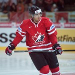 Evander Kane representing Canada at the World Championships. Image courtesy of Wikipedia Commons.