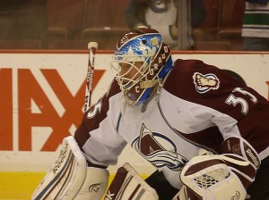 Avalanche goaltender J. S. Giguere. Image courtesy of Wikipedia Commons.