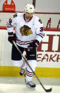 John Scott with the Chicago Blackhawks. Image courtesy of Wikimedia Commons.
