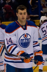 Jordan Eberle of the Edmonton Oilers. Image courtesy of Wikimedia Commons.