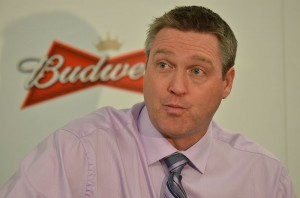 Colorado Avalanche head coach Patrick Roy. Image Courtesy of Wikipedia Commons.
