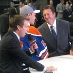 Edmonton Oiler Taylor Hall on draft day 2010. Image Courtesy of Wikipedia Commons.