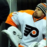 Ilya Bryzgalov as a member of the Philadelphia Flyers. Image courtesy of Wikimedia Commons.
