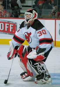 New Jersey Devils goalie Martin Brodeur. Image courtesy of Wikimedia Commons.