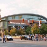 Nationwide Arena in Columbus, Ohio. Home of the Columbus Blue Jackets. Image courtesy of Wikimedia Commons.