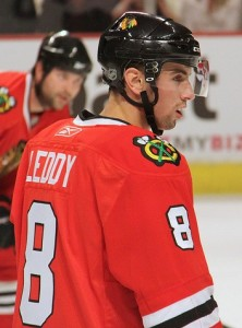 Chicago Blackhawks defenceman Nick Leddy. Image courtesy of Wikimedia Commons.