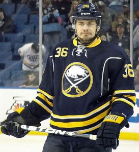 Patrick Kaleta of the Buffalo Sabres. Image courtesy of Wikimedia Commons.