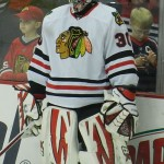 Ray Emery with the Chicago Blackhawks. Image courtesy of Wikimedia Commons.