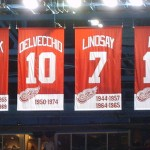 Red Wings legends have their numbers honoured at Joe Louis Arena in Detroit. Image courtesy of Wikimedia Commons.