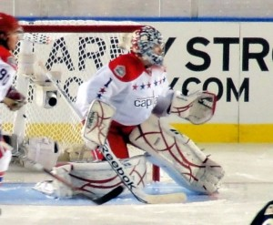 Semyon Varlamov as a member of the Washington Capitals at the Winter Classic. Image courtesy of Wikimedia Commons.