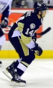Chris Kunitz, Pittsburgh Penguins. Image courtesy of Wikimedia Commons.